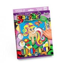 Фреска из песка sand art пони и радуга 12 цветов Danko toys SA-01-05