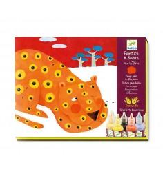 Набор для рисования композиция с пальчиковыми красками 8 цветов djeco 8901