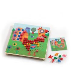 Развивающая игра Djeco Мозаика Животные k08137