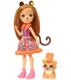 Кукла Enchantimals Чериш Гепарди с питомцем FJJ20