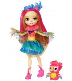 Кукла Enchantimals Пикки Какаду с питомцем FJJ21