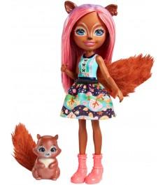 Кукла Enchantimals Санча Белка с питомцем FMT61