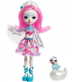 Кукла Enchantimals Лебедь Саффи с питомцем FRH38