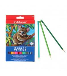 Набор трехгранных карандашей 18 цветов Erich Krause 32881