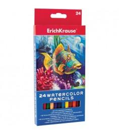 Акварельные карандаши с кисточкой 24 шт Erich Krause 32882