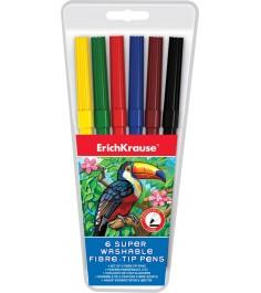 Фломастеры super washable 6 цветов Erich Krause 33049