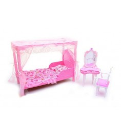 Набор мебели для кукол спальня Gloria 2614