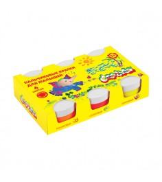 Пальчиковые краски для малышей 6 цветов Каляка Маляка ПКMКМ06