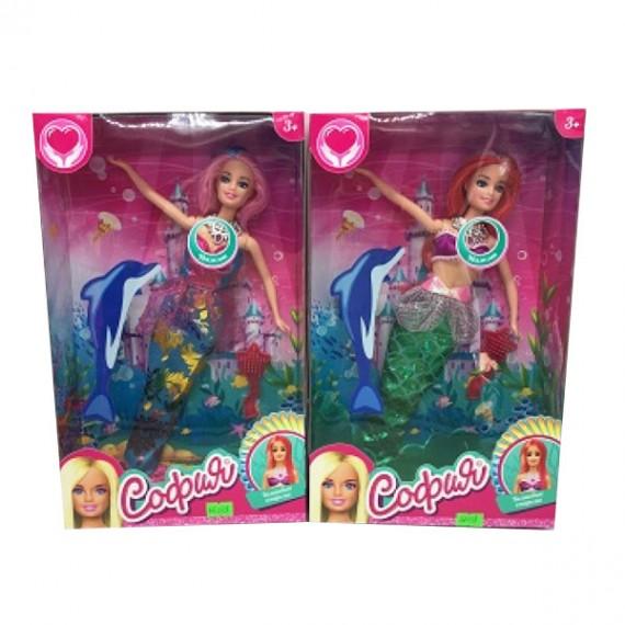 Кукла русалка с светящимся хвостом софия 29 см Карапуз 66238-S-BB