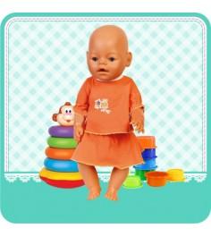 Одежда для куклы футболка и юбка 40 42 см Карапуз otf-45-ru-hk