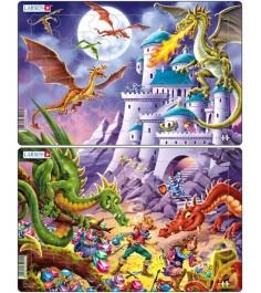 Пазл Larsen Драконы 28 элементов U12