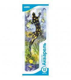 Набор красок акварель с кистью 12 цветов Lori Ак-004/01