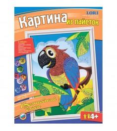 Картина из пайеток волшебный блеск пестрый попугай Lori Ап-001