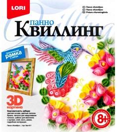 Панно в технике квиллинг колибри Lori Квл-017
