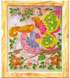 Панно в технике квиллинг цветочная фея Lori Квл-019