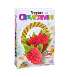 Модульное оригами клубничное лукошко Lori Мб-002