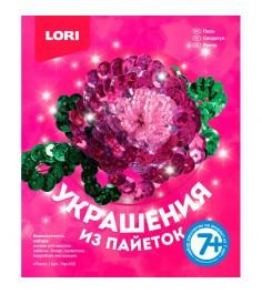 Набор для создания заколки из пайеток пион Lori Укр-035