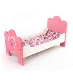 Деревянная кроватка для кукол Mary Poppins корона 67114
