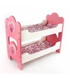 Деревянная двухэтажная кроватка для кукол Mary Poppins корона 67116