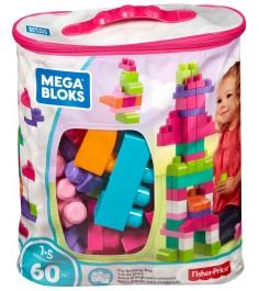 Mega Bloks мой первый конструктор 60 деталей розовый DCH54