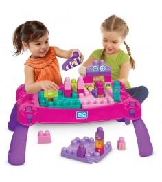 Mega Bloks стол для конструирования розовый FFG22