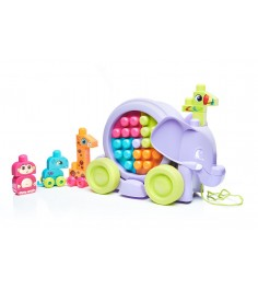 Mega Bloks неуклюжий слон розовый FFY14