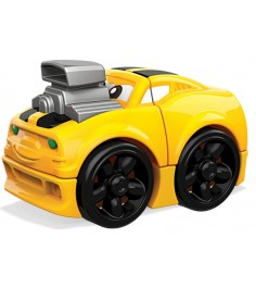 Mega Bloks гоночная машинка желтая FLT34