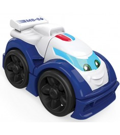 Mega Bloks гоночная машинка бело синяя FVR53