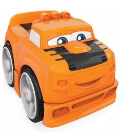 Mega Bloks гоночная машинка оранжевая FWD60