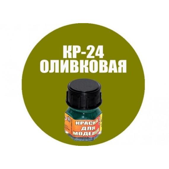 Краска оливковая Моделист Кр-24