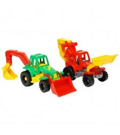 Трактор ижора с грейдером и ковшом Нордпласт 152