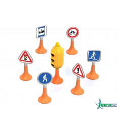 Набор дорожные знаки 1 светофор 6 знаков Нордпласт 885