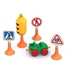 Дорожные знаки 2 светофор 3 знака машинка нордик Нордпласт 886