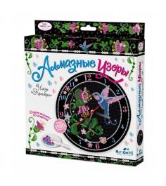 Алмазная мозаика по номерам часы колибри Origami 3211