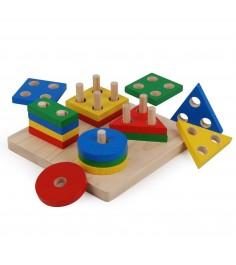 Сортер Plan Toys Доска с геометрическими фигурами 2403