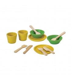 Набор деревянной посуды Plan Toys 12 предметов 3605
