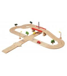 Деревянная дорога Plan Toys Road System Deluxe 6078