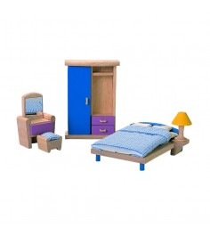 Набор мебели Plan Toys для кукол Neo Спальня 7309