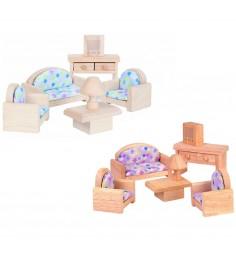 Набор деревянной мебели Plan Toys для кукол Классическая Гостиная 9015