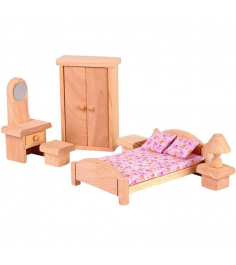 Набор кукольной мебели Plan Toys Классик Спальня 9016