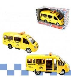 Инерционная машинка автопарк микроавтобус свет звук Play Smart 9098-E