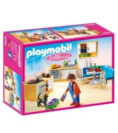 Кукольный дом встроенная кухня с зоной отдыха Playmobil 5336pm