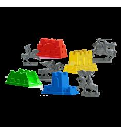 Набор формочек крепость с фигурками воинов Плэйдорадо 70060