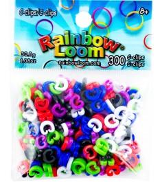 Набор с клипс Rainbow Loom для плетения браслетов 300 шт A0010