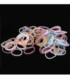 Резиночки для плетения браслетов Rainbow Loom Блестящие микс B0106