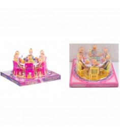 Игровой набор обеденный стол с куклами Gratwest Д79481