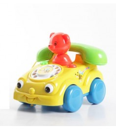 Развивающая игрушка телефон с мишкой на колесах Gratwest Н56339