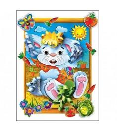 Бумажная аппликация зайчик Рыжий кот а-8400