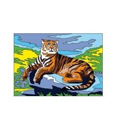 Раскраска песком большой тигр а3 Рыжий кот р-8893