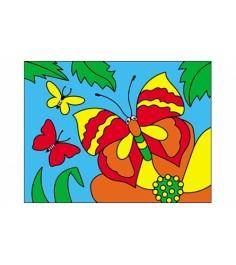 Раскраска песком формат а5 бабочки Рыжий кот Р-4393